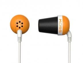 Slúchadlá KOSS The PLUG Orange športový dizajn, oranžové
