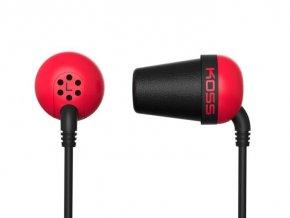 Slúchadlá KOSS The PLUG Red športový dizajn, červené