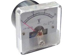 Analogový panelový voltmetr JY-50 30V= 50x50mm