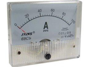 Analógový panelový ampérmeter 69C9 100A DC (50mV), bez bočníka