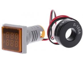 AD16-22FVA, panelový MP 60-500VAC + 0-100AAC, oranžový