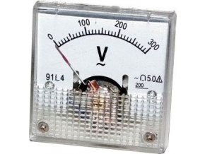 Analógový panelový voltmeter 91L4 300V ~ AC