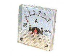 Analógový panelový ampérmeter 91C4 1A DC, s bočníkom