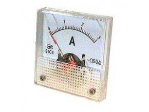 Analogový panelový ampérmetr 91C4 3A DC, s bočníkem