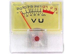 ZJ-40 panelový VU meter -20 + 3dB, 500U 40x40mm