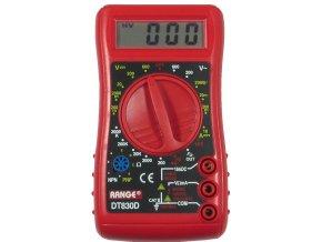 Multimeter DT830D RANGE červený