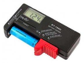 Tester batérií digitálny BT-168D -R3, R6, R20, R14, 9V