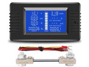 Šikovný tester batérií PZEM015, rozsah 0-200V, 0-100