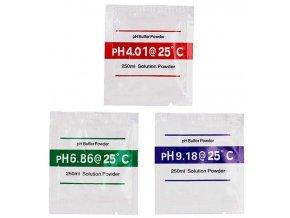 Kalibračný roztok pH4.00 + pH6,86 + pH9,18, celkom 3ks