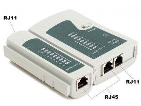 Cable Tester BS-468 Ethernet UTP, STP káblov - RJ-45, RJ-11