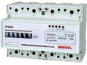 Elektromer 3 fázový analógový na DIN lištu