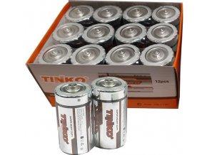 Batérie Tinka 1,5V D (R20) Zn-Cl, balenie 12ks