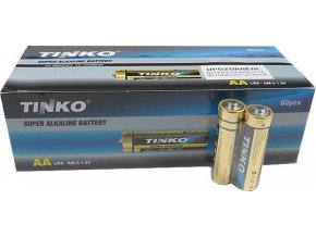 Batérie Tinka 1,5V AA (LR6) alkalická, balenie 60ks