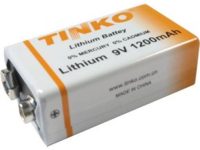 Baterie TINKO 9V ER9(CR9V) 1200mAh lithiová