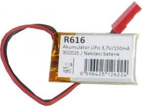 Akumulátor LiPo 3,7V / 150mAh 302025 / Nabíjacia batéria Li-Pol /