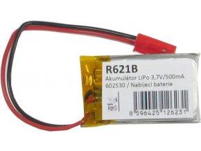 Akumulátor LiPo 3,7V / 500mAh 602530 / Nabíjacia batéria Li-Pol /