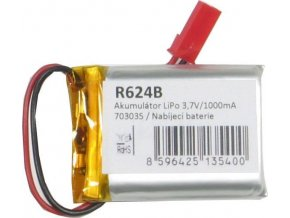 Akumulátor LiPo 3,7V / 1000mAh 703035 / Nabíjacia batéria Li-Pol /