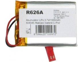 Akumulátor LiPo 3,7V / 1500mAh 604045 / Nabíjacia batéria Li-Pol /