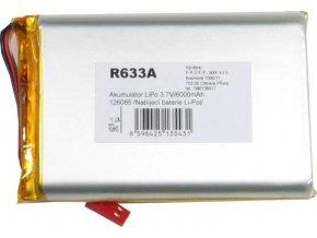 Akumulátor LiPo 3,7V / 6000mAh 126085 / Nabíjacia batéria Li-Pol /