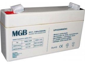 Pb akumulátor MGB VRLA AGM 6V / 1,3Ah