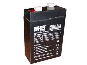Pb akumulátor MHB VRLA AGM 6V / 2,8Ah