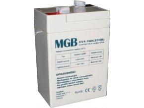 Pb akumulátor MGB VRLA AGM 6V / 4Ah