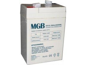Pb akumulátor MGB VRLA AGM 6V / 4,5Ah
