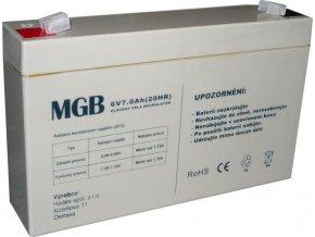 Pb akumulátor MGB VRLA AGM 6V / 7Ah