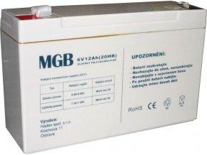Pb akumulátor MGB VRLA AGM 6V / 12Ah