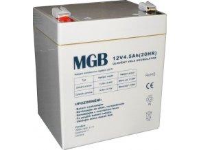 Pb akumulátor MGB VRLA AGM 12V / 4,5Ah