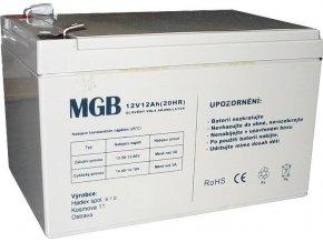 Pb akumulátor MGB VRLA AGM 12V / 12Ah