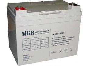 Pb akumulátor MGB VRLA AGM 12V / 33Ah