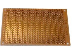 Univerzálny DPS 5x7cm, 432p, RM = 2,54mm, vŕtaná