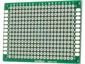 Univerzálny DPS 6x4cm, 280p, RM = 2,54mm, vŕtaná, cínované