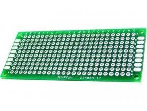 Univerzálny DPS 3x7cm, 240p, RM = 2,54mm, vŕtaná, cínované