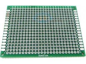 Univerzálny DPS 5x7cm, 432p, RM = 2,54mm, vŕtaná, cínované