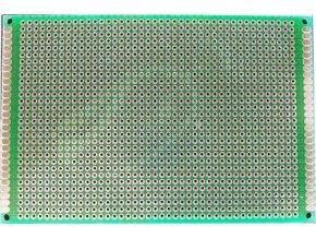 Univerzálny DPS 8x12cm, 1260p, RM = 2,54mm, vŕtaná, cínované