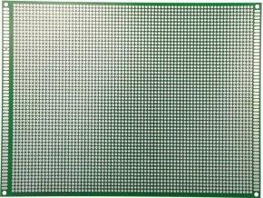 Univerzálny DPS 15x20cm, 4218p, RM = 2,54mm, vŕtaná, cínované