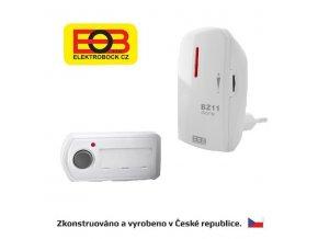 Bezdrôtový zvonček - sieťový BZ11-biela Elektrobock