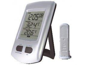 Teplomer bezdrôtový IN / OUT + hodiny DCF WH0204