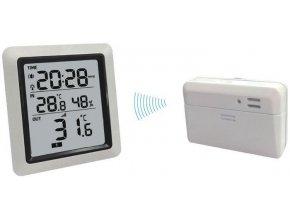 Teplomer bezdrôtový IN / OUT + vlhkomer + hodiny WH0280