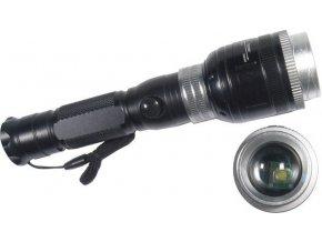 Svítilna LED 5W nabíjecí, napájení Li-Ion 18650