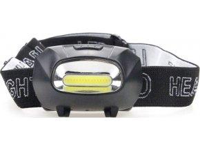 Svietidlo, čelovka LED COB, napájanie 3xAAA