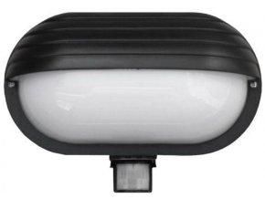 Nástenné svetlo s PIR čidlom, ST69, čierne 230V / 60W