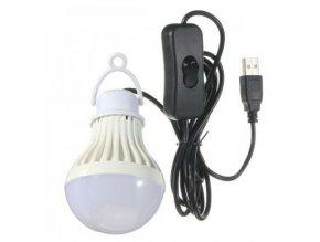 Svietidlo závesné LED 5W pre camping, napájanie USB