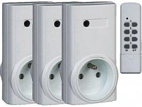 3x diaľkovo ovládaná zásuvka + 4kanál.D.O. Kangtai