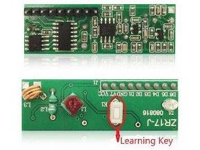 Modul diaľkového ovládania ZR17J - prijímač 433MHz s učiacim sa kódom