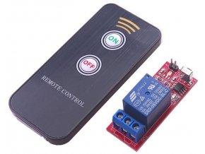 Diaľkové ovládanie, vysielač + prijímač IR, napájanie prijímača 12V