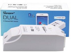 Sonoff Dual dvojkanálový WiFi spínač 230V / 10A