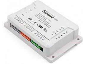 Sonoff 4CH R2, štvorkanálový WiFi spínač 230V / 10A